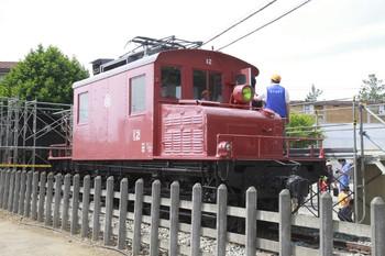 2012年5月13日、保谷、公開中のE11形電気機関車。