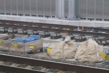 2012年6月16日、石神井公園、上が工事中の下り急行線。
