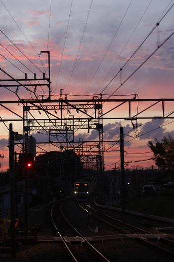 2012年6月20日 19時13分頃、西所沢、飯能方を向いて撮影。