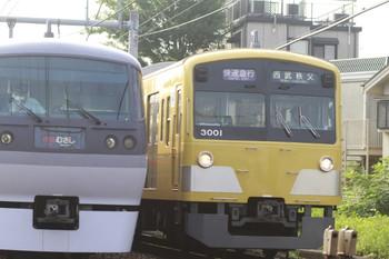 2012年7月28日、池袋~椎名町、右が3001Fの1003レ。
