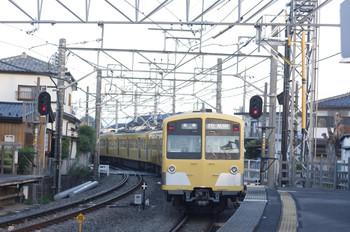 2012年9月5日、西所沢、発車した1241Fの6103レ。