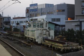 2012年9月5日夕方、東長崎駅の保守用車スペース。