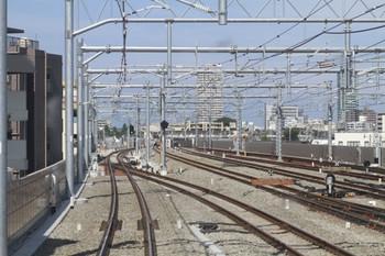 2012年9月9日、石神井公園駅の下り方、下り列車から撮影。