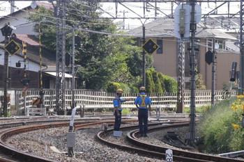 2012年9月10日 9時20分ころ、所沢~新秋津、右端がJR連絡線。