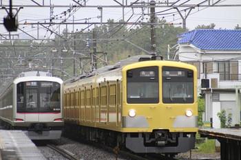 2012年9月23日、秋津、左が東急4104Fの4575レ・右は1309Fの5352レ。
