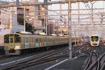 2012年10月21日、石神井公園、車体広告の9105Fの4103レ。