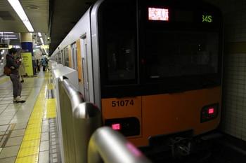 2012年11月23日 13時43分ころ、池袋、3番ホームで折り返す東武 51074Fの試運転列車。