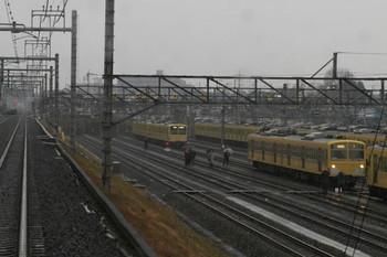 2012年12月17日13時58分ころ、小手指車両基地、上り列車から撮影。