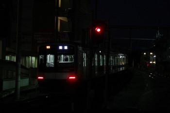 2013年1月7日 6時13分ころ、大泉学園、東急 4104Fの下り回送列車。