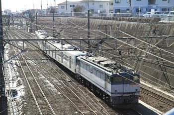 2013年1月19日 13時17分ころ、新秋津、新座(タ)駅へ向かうEF65-2083+西武1249Fの貨物列車。