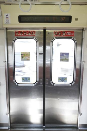 2013年2月24日、9108Fの側扉の車内側。