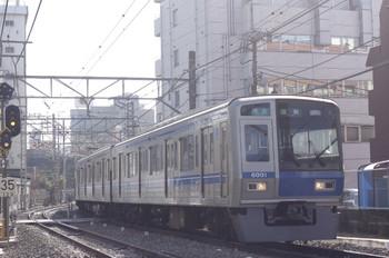 2013年3月19日、高田馬場~下落合、営業に復帰した6101Fの4205レ。