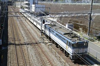 2013年4月7日 10時31分頃、新秋津、府中本町方から到着するEF65-2050+西武1245Fの貨物列車。