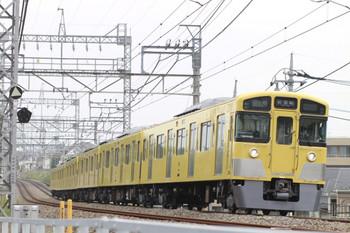 2013年5月13日 10時42分、西所沢~小手指、2045Fの上り試運転列車。