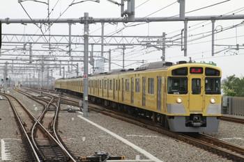 2013年6月29日 6時3分頃、石神井公園、3番ホームに到着する2075Fの上り回送列車。