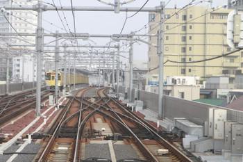 2013年7月14日、石神井公園、発車後の上り列車の最後部から。