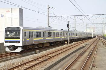 2013年8月11日、茂原、発車した252Mの209系4+6連。