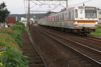 2013年8月18日、元加治~飯能、メトロ7031Fの3701レ。