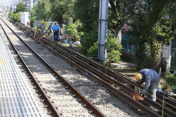 2013年8月28日、14時半頃、大泉学園駅の下り線。