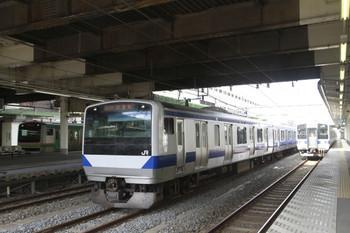 2013年9月1日、小山、クハE531-16他の8727M試運転列車。