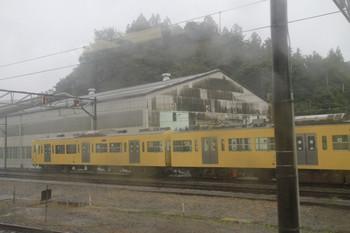 2013年10月20日、横瀬車両基地、留置されるクハ3003・モハ3203。