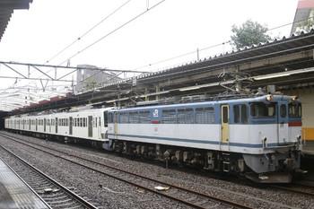 2013年10月26日 13時47分頃、新秋津、EF65-2076+西武1245Fの西行 貨物列車。