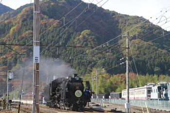 2013年11月14日 13時42分頃、三峰口、構内入換えで羽生方の本線に出るC58-363。