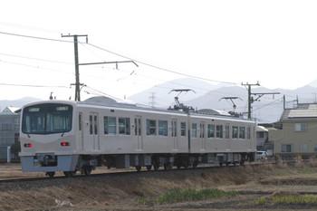 2014年1月2日、山名~西山名、クモハ7001+クハ7501の29列車。