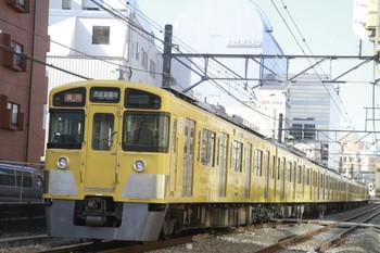 2014年1月12日、高田馬場~下落合、(<-新宿)2527F+2513Fの2505レ。