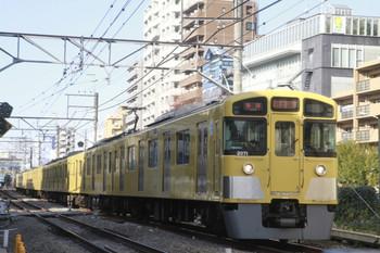 2014年1月12日、高田馬場~下落合、2071Fの5814レ。