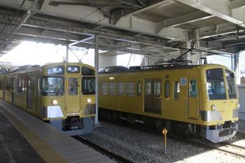 2014年1月19日、所沢、左から5番ホームの2083F・5115レ、1249Fを牽引する263F。