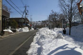 2014年2月22日 11時ころ、秩父市役所の東側の道路。