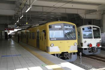 2014年4月5日、所沢、5217レの3009Fと多摩川線への発送を待つ1249F。