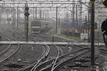 2014年6月12日 5時50分頃、所沢、電留線に並ぶメトロ10116Fと西武3011F。