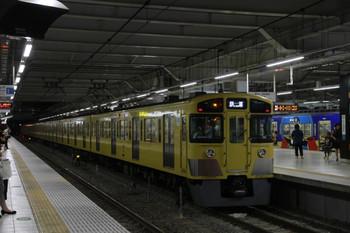 2014年8月2日 21時32分頃、所沢、2番ホームで折り返しを待つ2059Fの下り回送列車。