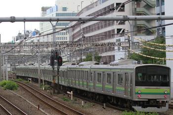 2014年9月19日 6時34分頃、目白~池袋、旧・横浜線205系の配給輸送列車。