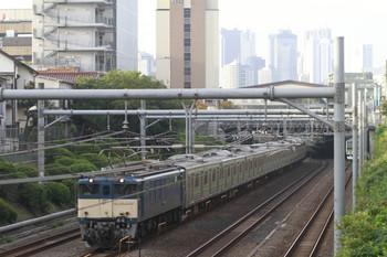 2014年10月3日、池袋~目白、EF64-1031牽引の旧・横浜線205系配給輸送列車。