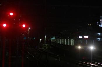 2014年10月3日 18時20分頃、練馬、急行線から3番ホームに入る9103Fの上り回送列車。