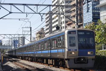 2014年10月16日、高田馬場~下落合、6101Fの2332レ。