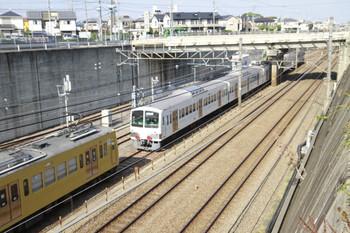 2014年10月25日 13時17分ころ、新秋津、新座貨物タ駅へ発車した西武1241F+EF65-2083の貨物列車。