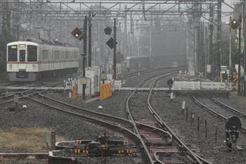 2014年11月1日 13時27分頃、小川、発車した4021Fの本川越ゆき臨時列車。
