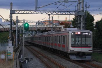 2014年11月3日 16時47分頃、武蔵藤沢、東急4108Fの急行 元町・中華街ゆき(52K運用)。