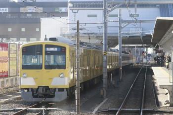2014年12月15日、所沢、下り列車から撮影した6番線停車中の263F+3007F。