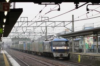 2014年12月16日 9時24分頃、能登川、EF210-137牽引の下りコンテナ列車。