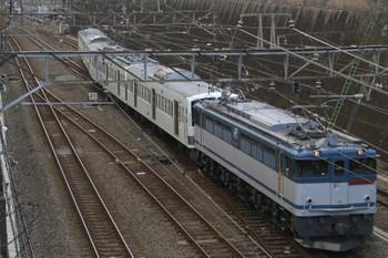 2015年1月17日 13時18分頃、新秋津、発車したEF65-2080+西武1253F。