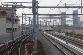 2015年1月25日、石神井公園、大泉学園方の構内端を下り列車から撮影。