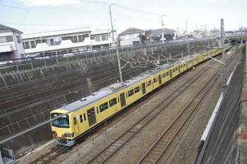 2015年2月9日 12時8分頃、新秋津、EF65-2083に牽引され発車した3009F。