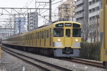 2015年3月9日、高田馬場~下落合、2455F+2061Fの4608レ。