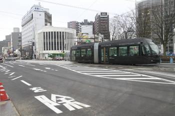 2015年3月2日、電鉄富山〜新富町、環状線。
