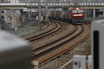2015年3月15日12時13分、五反田、EH500牽引の3086レ。